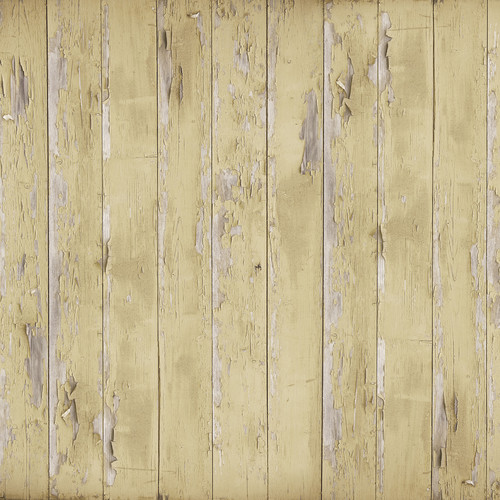 Westcott Distressed Wood Art Canvas Backdrop with Hook-and-Loop Attachment (3.5 x 3.5', Light Brown)