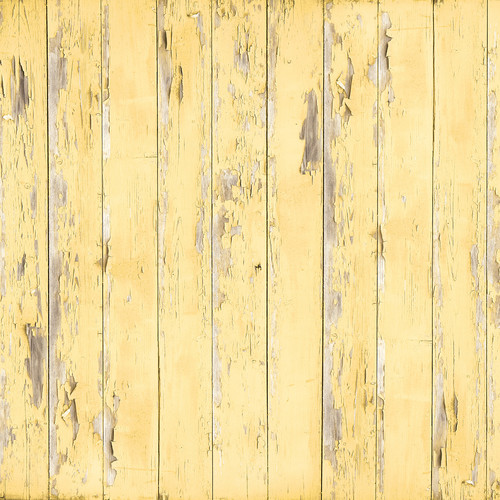 Westcott Distressed Wood Matte Vinyl Backdrop with Hook-and-Loop Attachment (3.5 x 3.5', Light Yellow)