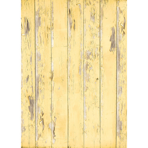 Westcott Distressed Wood Art Canvas Backdrop with Grommets (5 x 7', Light Yellow)