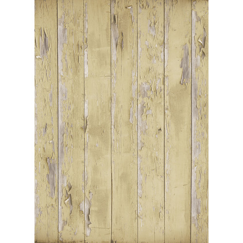 Westcott Distressed Wood Matte Vinyl Backdrop with Grommets (5 x 7', Light Brown)