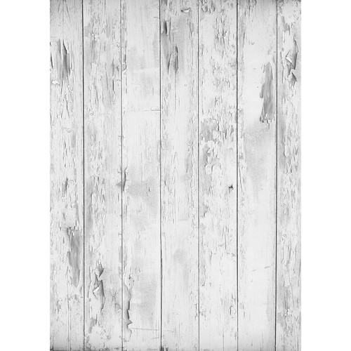 Westcott Distressed Wood Matte Vinyl Backdrop with Grommets (5 x 7', Light Gray)