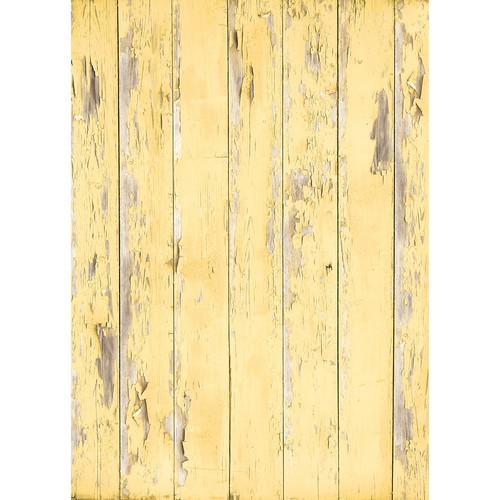 Westcott Distressed Wood Matte Vinyl Backdrop with Grommets (5 x 7', Light Yellow)