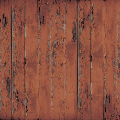 Westcott Distressed Wood Art Canvas Backdrop with Hook-and-Loop Attachment (3.5 x 3.5', Brown)