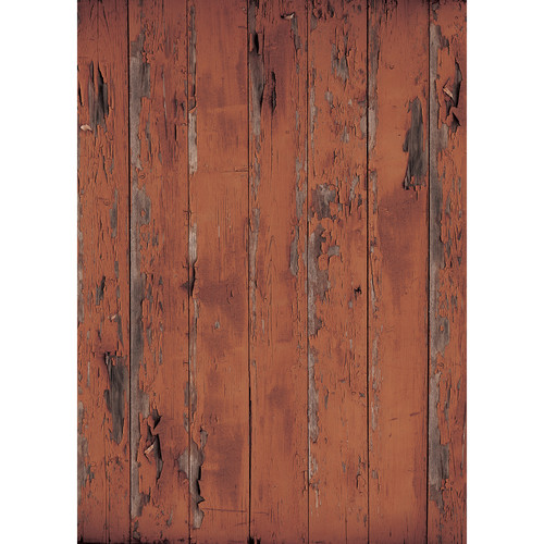 Westcott Distressed Wood Matte Vinyl Backdrop with Grommets (5 x 7', Brown)