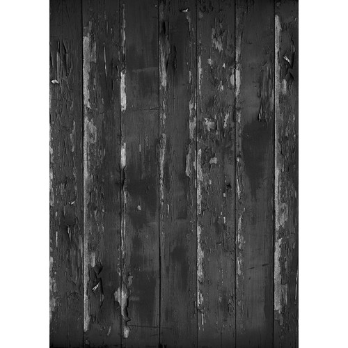 Westcott Distressed Wood Matte Vinyl Backdrop with Grommets (5 x 7', Gray)