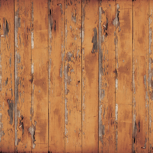 Westcott Distressed Wood Art Canvas Backdrop with Hook-and-Loop Attachment (3.5 x 3.5', Rich Brown)