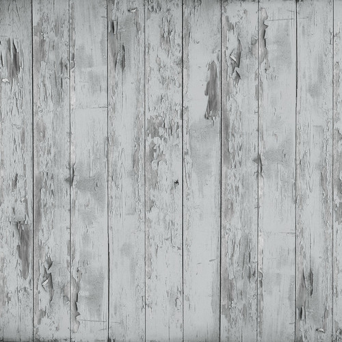 Westcott Distressed Wood Matte Vinyl Backdrop with Hook-and-Loop Attachment (3.5 x 3.5', Rich Gray)