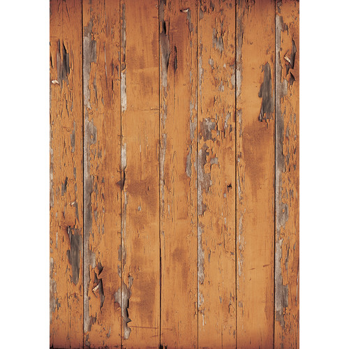 Westcott Distressed Wood Art Canvas Backdrop with Grommets (5 x 7', Rich Brown)