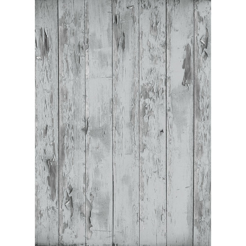Westcott Distressed Wood Matte Vinyl Backdrop with Grommets (5 x 7', Rich Gray)