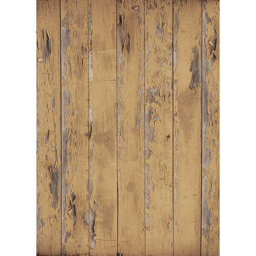 Westcott Distressed Wood Art Canvas Backdrop with Grommets (5 x 7', Vintage Brown)
