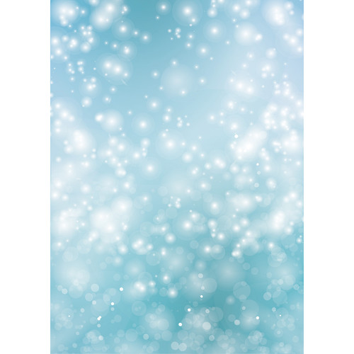 Westcott Bokeh Art Canvas Backdrop with Grommets (5 x 7', Turquoise)
