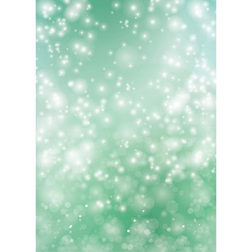 Westcott Bokeh Art Canvas Backdrop with Grommets (5 x 7', Green)