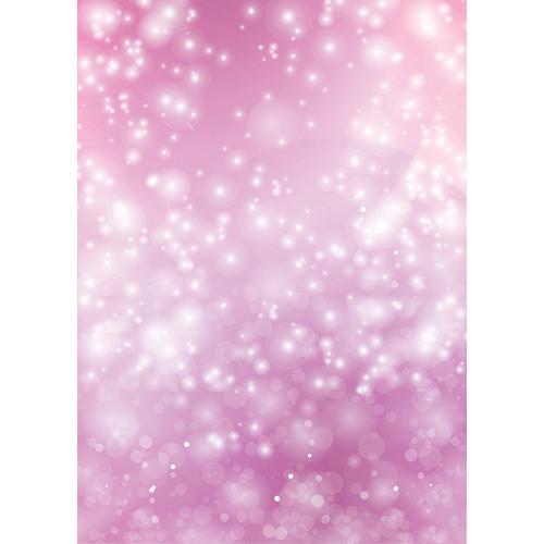 Westcott Bokeh Art Canvas Backdrop with Grommets (5 x 7', Pink)