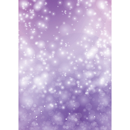 Westcott Bokeh Art Canvas Backdrop with Grommets (5 x 7', Purple)