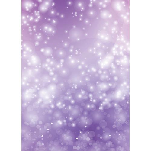 Westcott Bokeh Matte Vinyl Backdrop with Grommets (5 x 7', Purple)