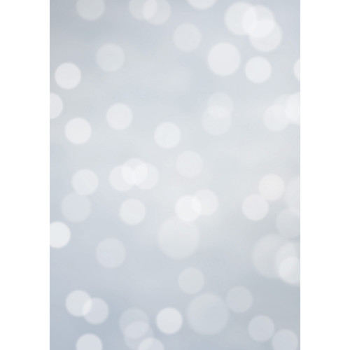 Westcott Subtle Bokeh Art Canvas Backdrop with Grommets (5 x 7', Gray)