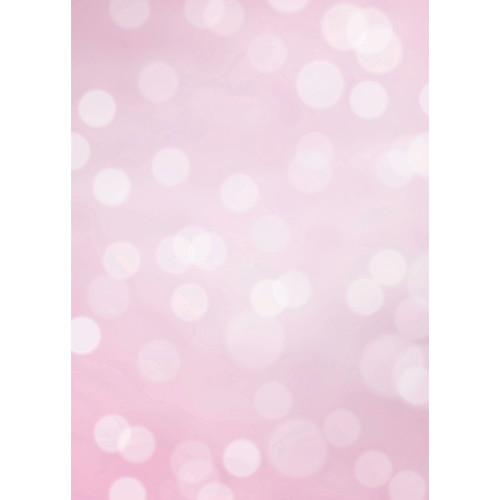 Westcott Subtle Bokeh Art Canvas Backdrop with Grommets (5 x 7', Pink)