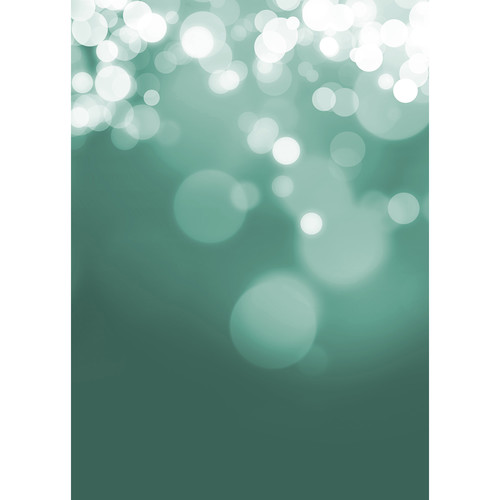 Westcott Gradient Bokeh Art Canvas Backdrop with Grommets (5 x 7', Turquoise)
