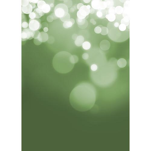 Westcott Gradient Bokeh Art Canvas Backdrop with Grommets (5 x 7', Green)