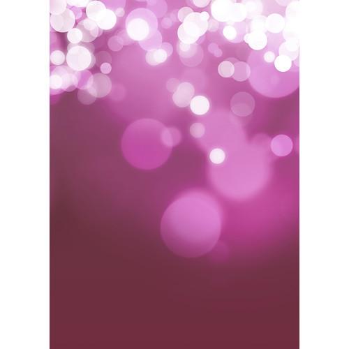 Westcott Gradient Bokeh Art Canvas Backdrop with Grommets (5 x 7', Pink)