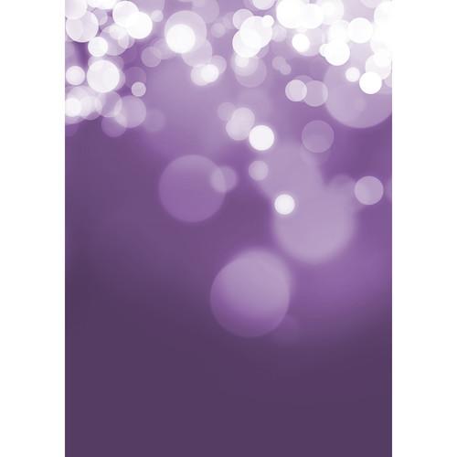 Westcott Gradient Bokeh Art Canvas Backdrop with Grommets (5 x 7', Purple)