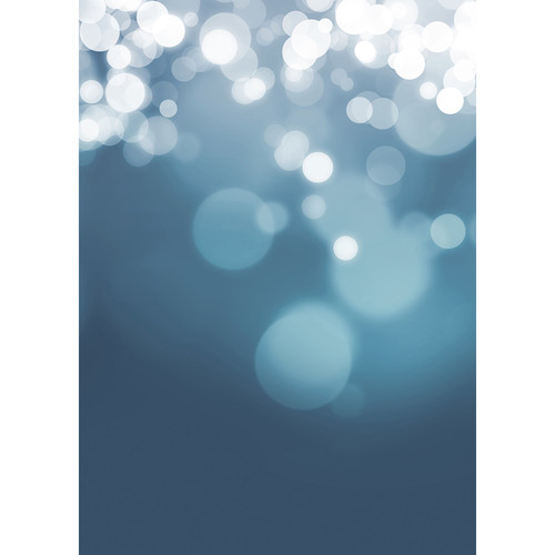 Westcott Gradient Bokeh Matte Vinyl Backdrop with Grommets (5 x 7', Blue)