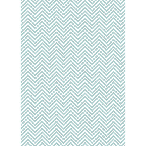 Westcott Classic Chevron Art Canvas Backdrop with Grommets (5 x 7', Light Turquoise)