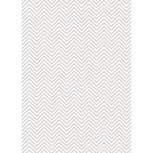 Westcott Classic Chevron Art Canvas Backdrop with Grommets (5 x 7', Light Gray)