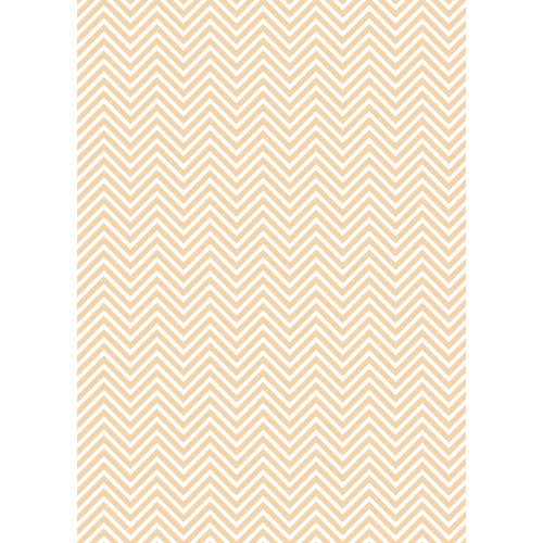 Westcott Classic Chevron Art Canvas Backdrop with Grommets (5 x 7', Light Orange)