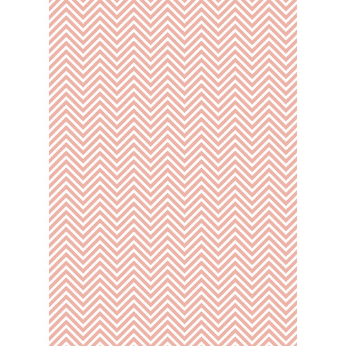 Westcott Classic Chevron Art Canvas Backdrop with Grommets (5 x 7', Light Red)