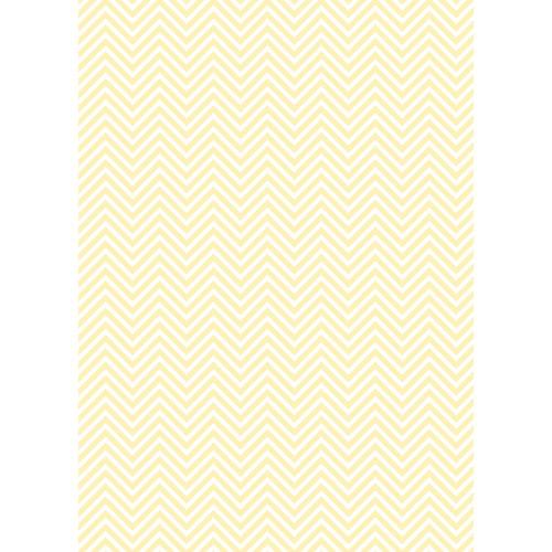 Westcott Classic Chevron Art Canvas Backdrop with Grommets (5 x 7', Light Yellow)
