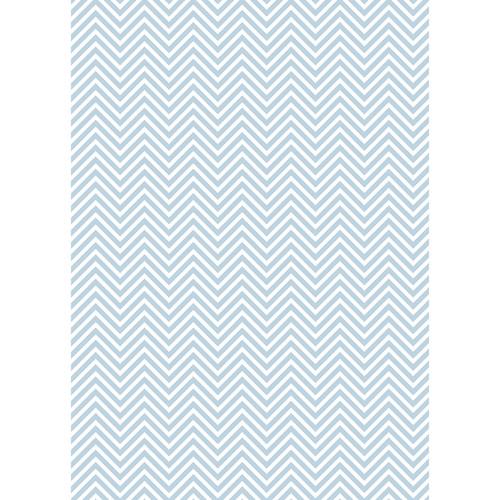 Westcott Classic Chevron Matte Vinyl Backdrop with Grommets (5 x 7', Light Blue)