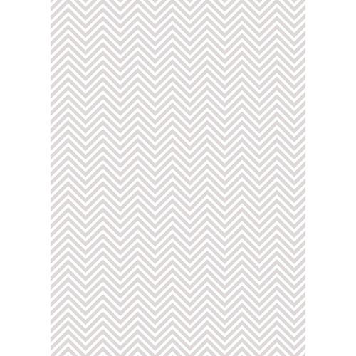 Westcott Classic Chevron Matte Vinyl Backdrop with Grommets (5 x 7', Light Gray)
