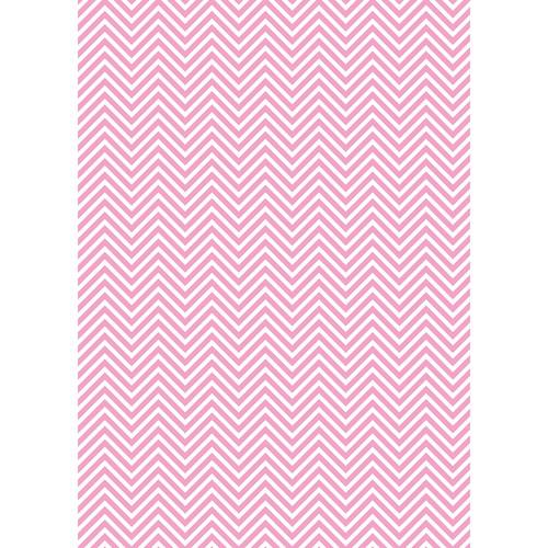 Westcott Classic Chevron Matte Vinyl Backdrop with Grommets (5 x 7', Light Pink)