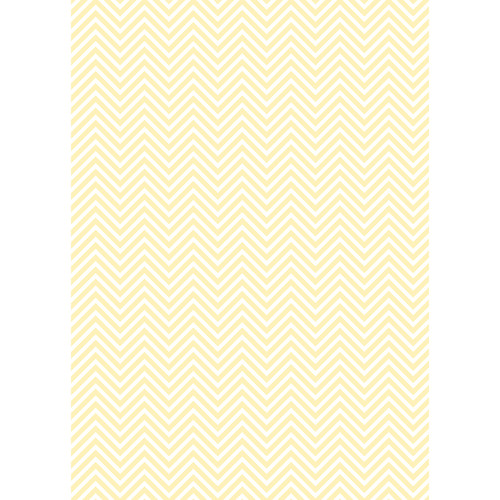Westcott Classic Chevron Matte Vinyl Backdrop with Grommets (5 x 7', Light Yellow)