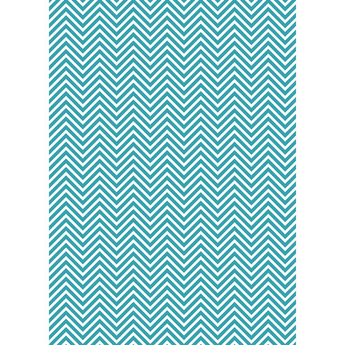 Westcott Classic Chevron Art Canvas Backdrop with Grommets (5 x 7', Bold Turquoise)