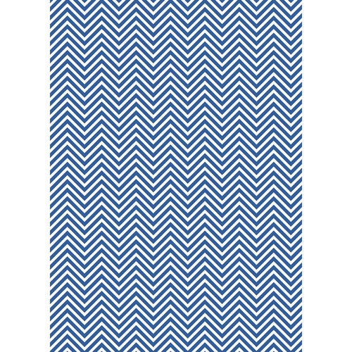 Westcott Classic Chevron Art Canvas Backdrop with Grommets (5 x 7', Bold Blue)
