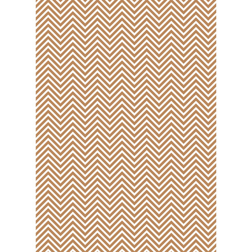 Westcott Classic Chevron Art Canvas Backdrop with Grommets (5 x 7', Bold Brown)