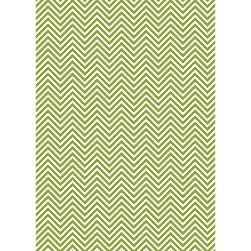 Westcott Classic Chevron Art Canvas Backdrop with Grommets (5 x 7', Bold Green)