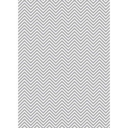 Westcott Classic Chevron Art Canvas Backdrop with Grommets (5 x 7', Bold Gray)