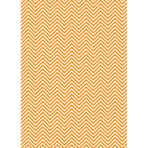 Westcott Classic Chevron Matte Vinyl Backdrop with Grommets (5 x 7', Bold Orange)