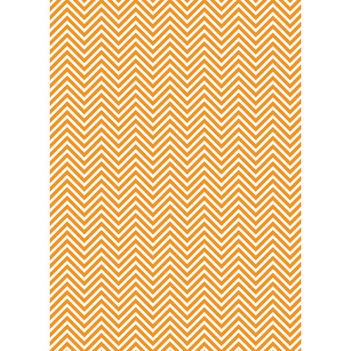 Westcott Classic Chevron Matte Vinyl Backdrop with Grommets (5 x 7', Bold Orange)