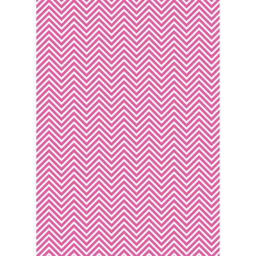 Westcott Classic Chevron Matte Vinyl Backdrop with Grommets (5 x 7', Bold Pink)
