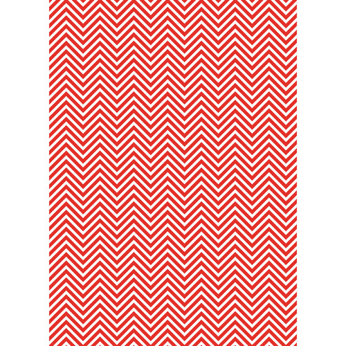 Westcott Classic Chevron Matte Vinyl Backdrop with Grommets (5 x 7', Bold Red)