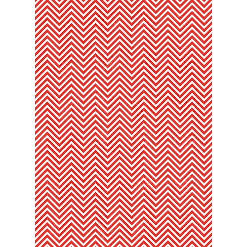 Westcott Classic Chevron Matte Vinyl Backdrop with Grommets (5 x 7', Bold Red)