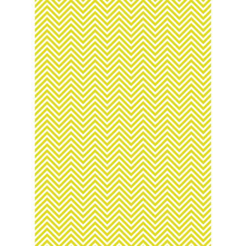 Westcott Classic Chevron Matte Vinyl Backdrop with Grommets (5 x 7', Bold Yellow)