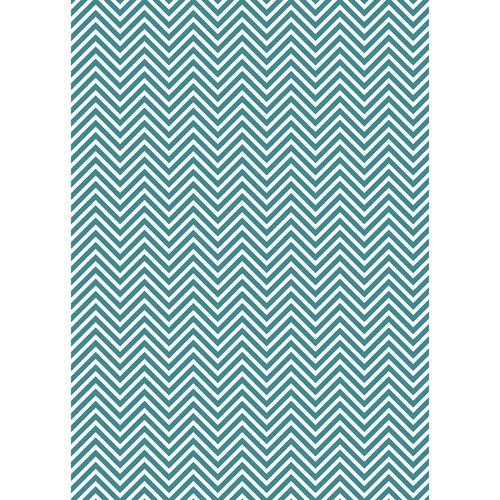 Westcott Classic Chevron Art Canvas Backdrop with Grommets (5 x 7', Rich Turquoise)