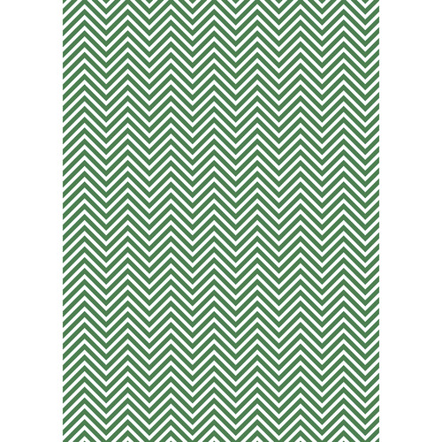 Westcott Classic Chevron Art Canvas Backdrop with Grommets (5 x 7', Rich Green)