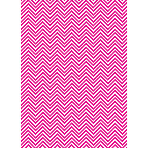 Westcott Classic Chevron Art Canvas Backdrop with Grommets (5 x 7', Rich Pink)