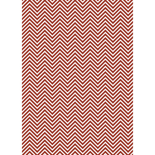 Westcott Classic Chevron Art Canvas Backdrop with Grommets (5 x 7', Rich Red)